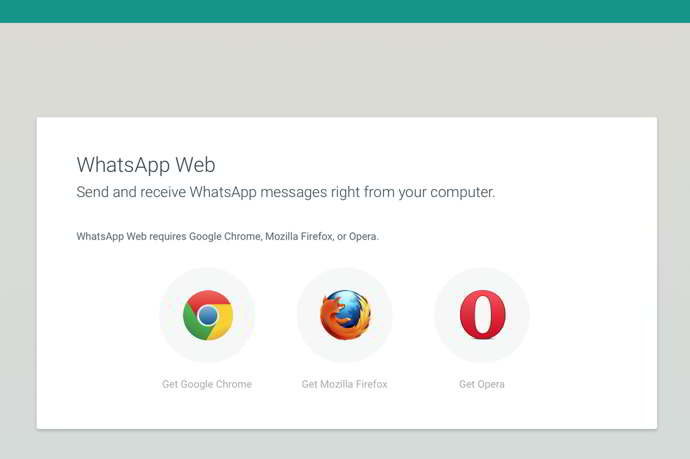 whatsapp web android navegadores