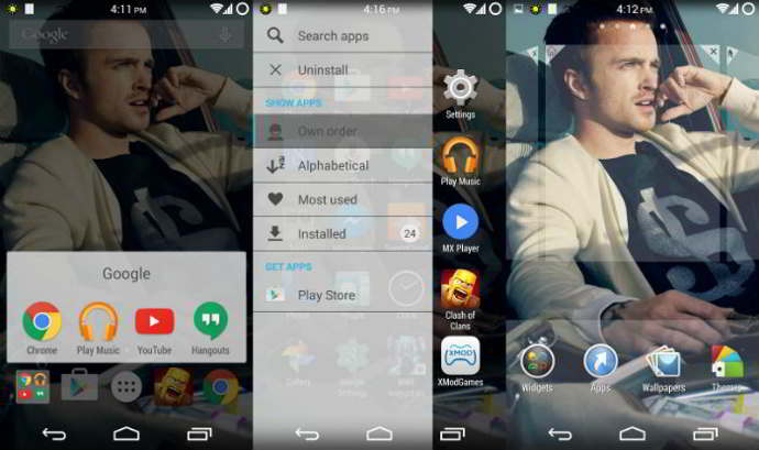 xperia home launcher android