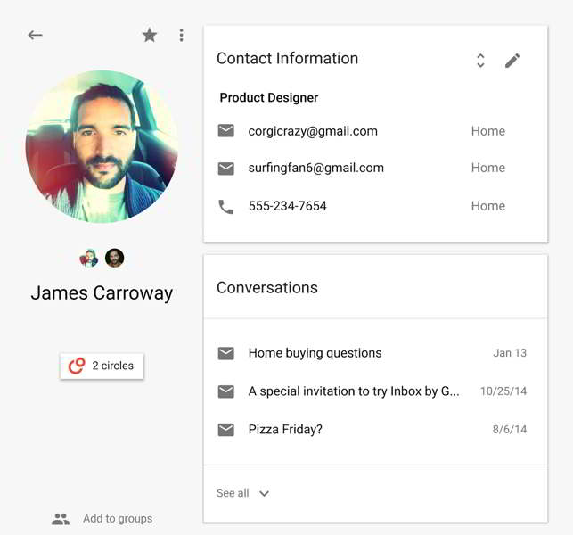 google contacts android