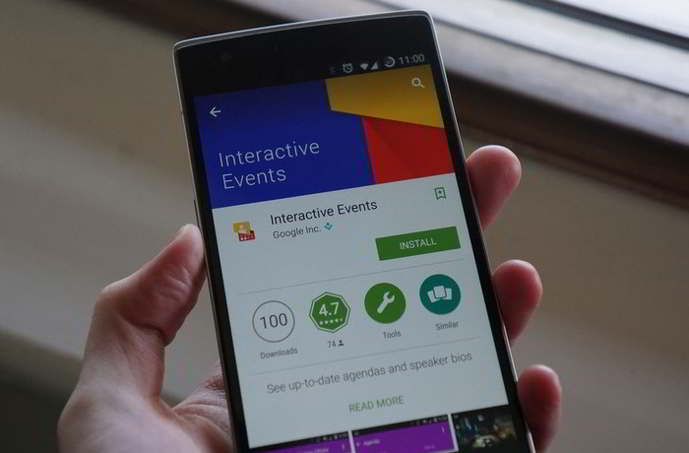 google interactive events android