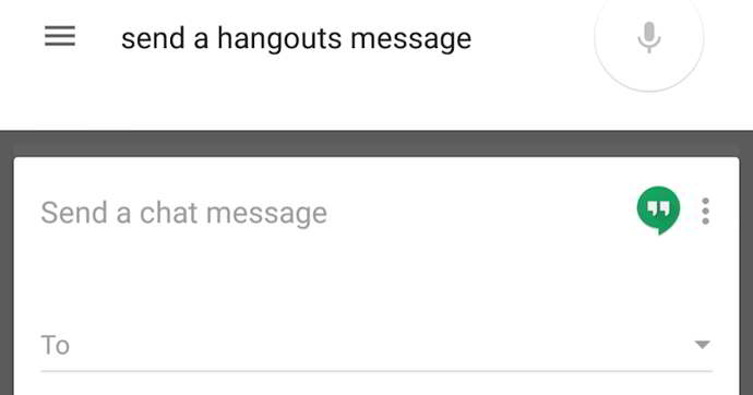 google now hangouts android