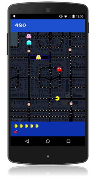 pac-man google maps android