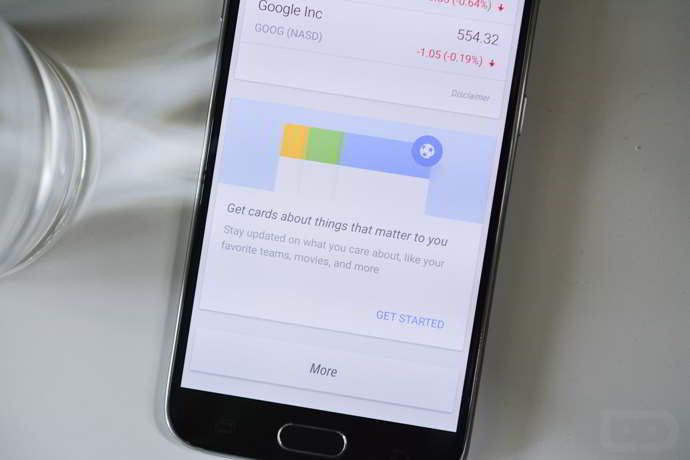 google now tarjetas terceros apps