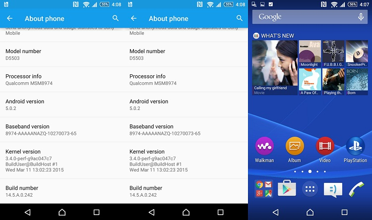 instalar android 5.0.2 lollipop xperiaz1, z1 compact