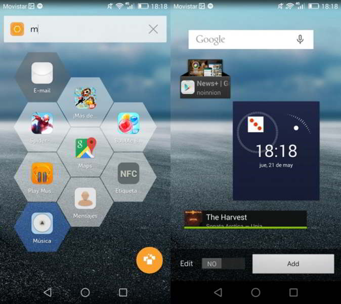 hexy launcher android