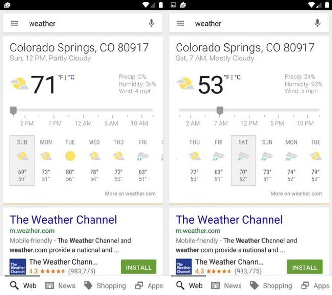 google now tarjetas clima extendidas android