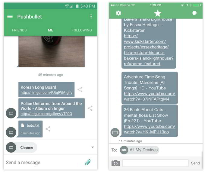 pushbullet v16.1 android