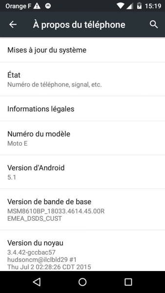 android 5.1 lollipop moto e