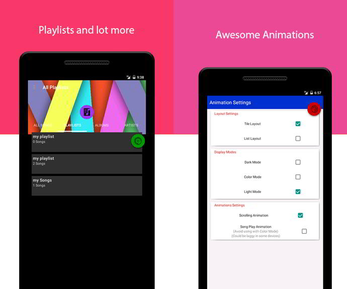 flamingo music player android