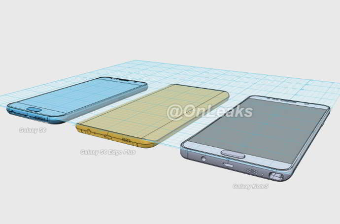 galaxy note 5 renders