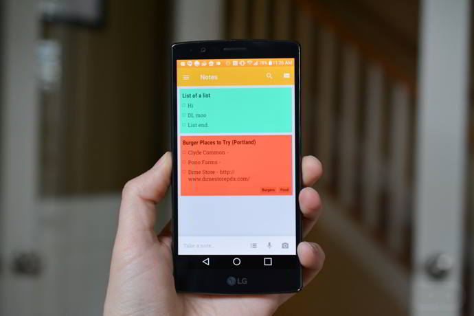 google keep barra notas android