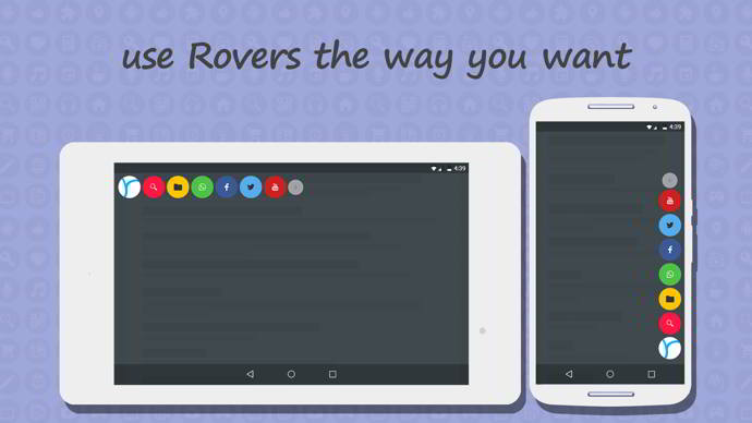 rovers floating launcher android