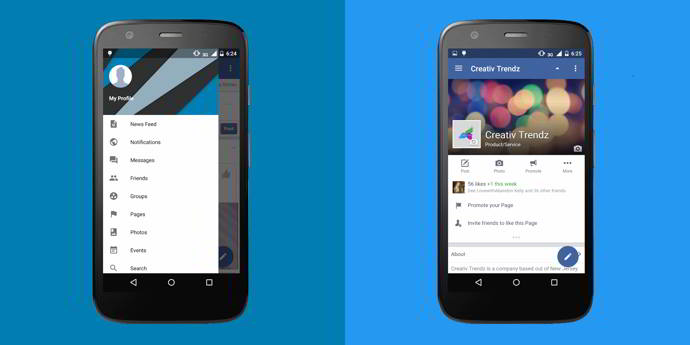 folio for facebook browser android 320x200