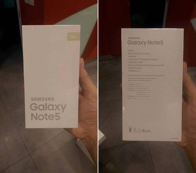 galaxy note 5 empaque