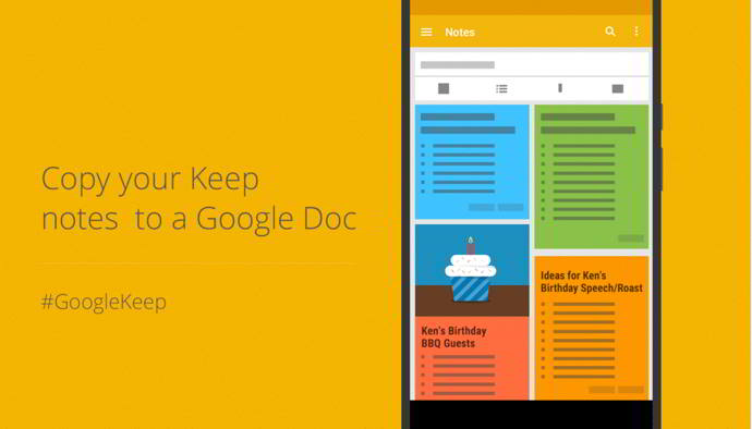 google keep docs