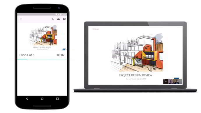 google slides hangouts android
