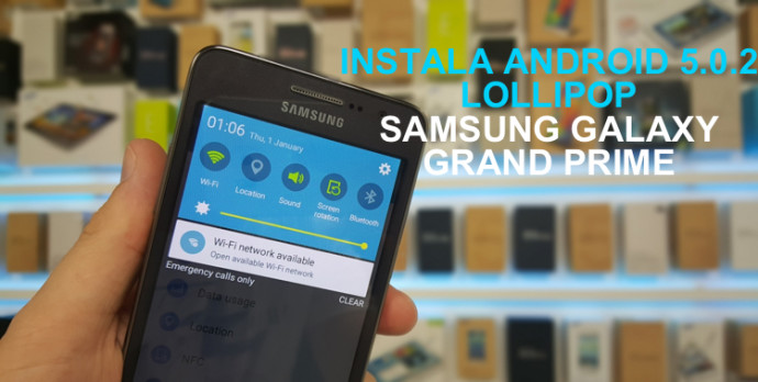 instalar android lollipop galaxy grand prime