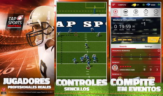 tap sports football android