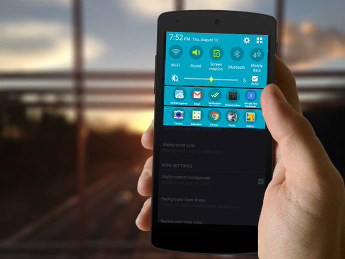 tuffs notification shortcuts android