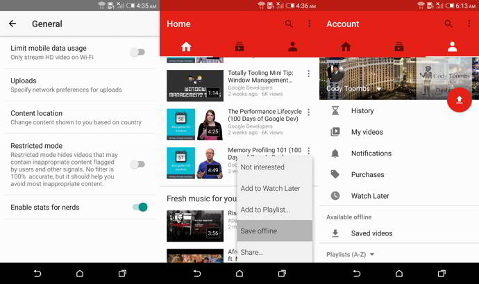 youtube v10.32 android