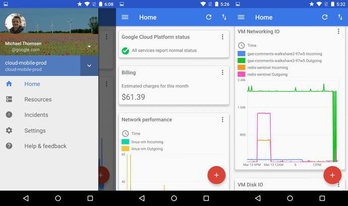 cloud console android