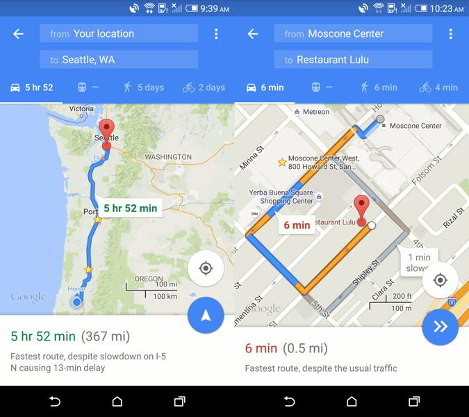 google maps v9.14 android