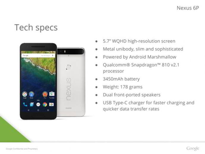 nexus 6p especificaciones android