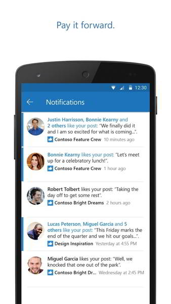 outlook groups android