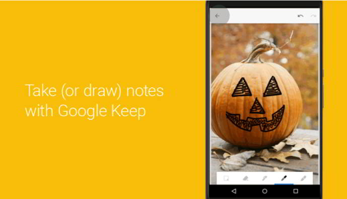 google keep modo dibujo android