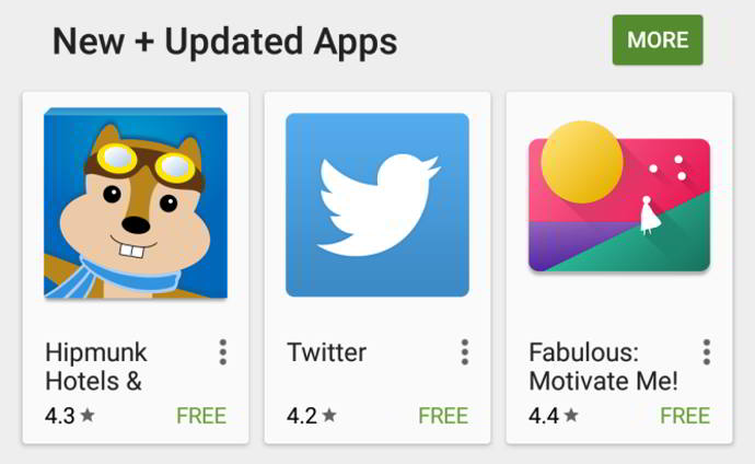 play store calificacion comprimida android
