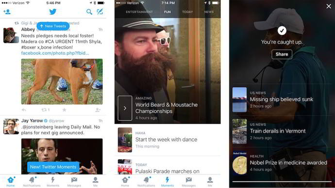 twitter moments android
