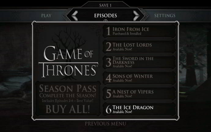 game of thrones capitulo 6 android