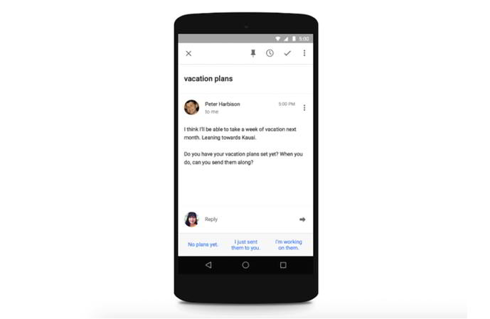 inbox by gmail smart reply android