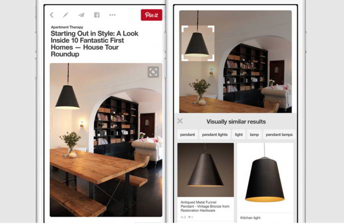 pinterest busqueda objetos android