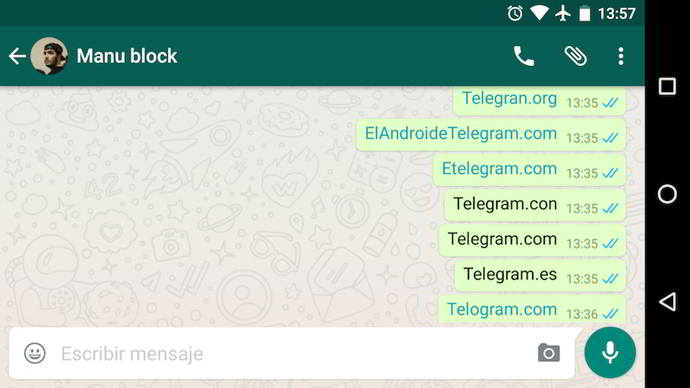whatsapp android telegram
