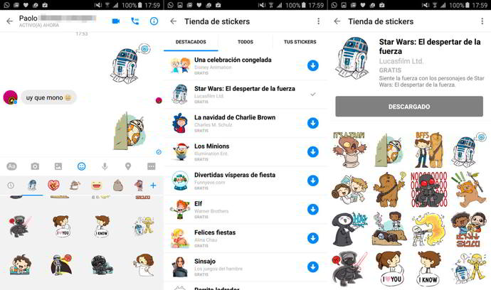facebook messenger star wars android