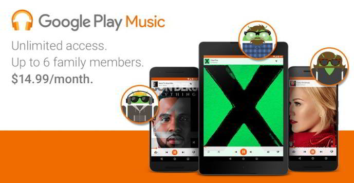 google play music plan familiar android