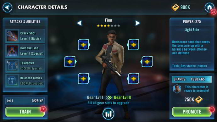 star wars galaxy of heroes finn android