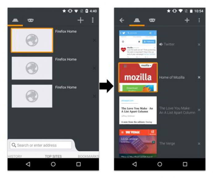 firefox v44 android