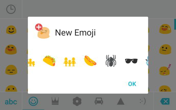 swiftkey emojis android 6.0.1