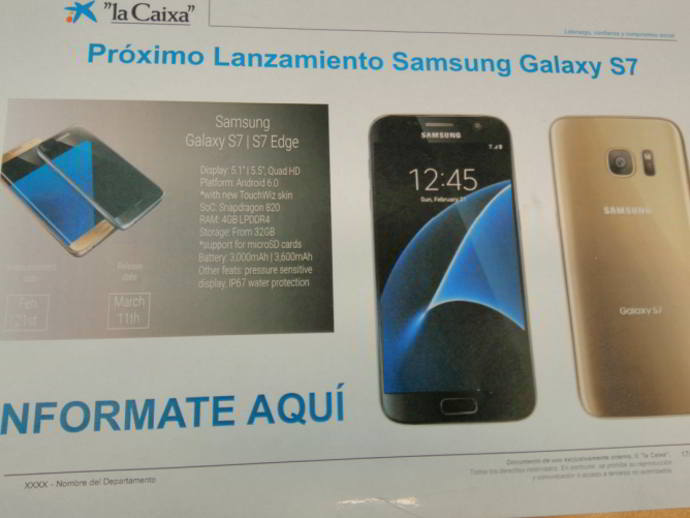 galaxy s7 especificaciones