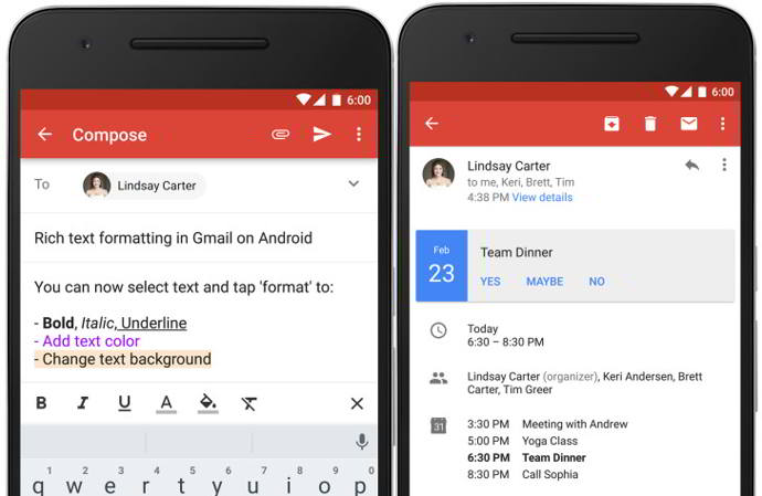 gmail v6.0 android