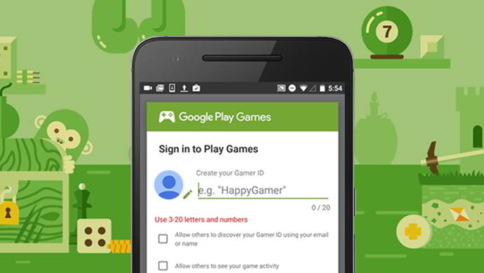 google play games gamer id custom android