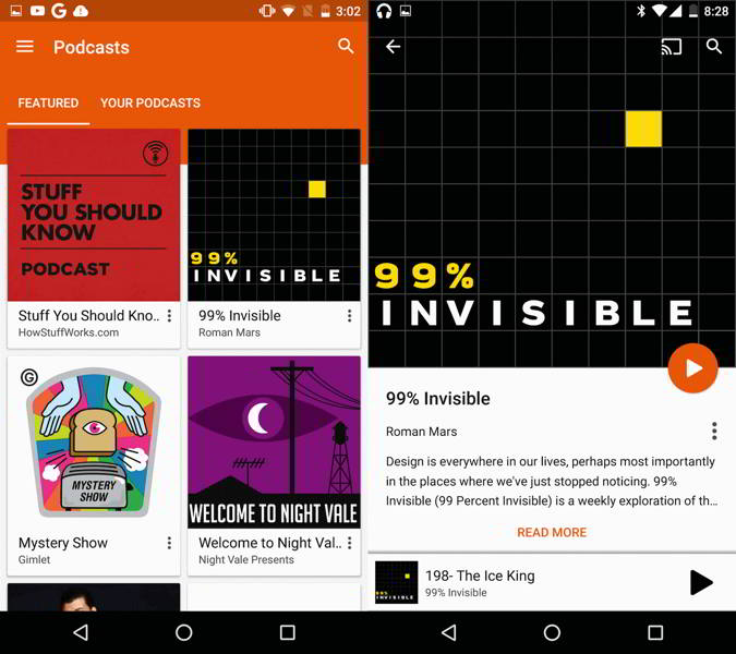 google play music podcasts android
