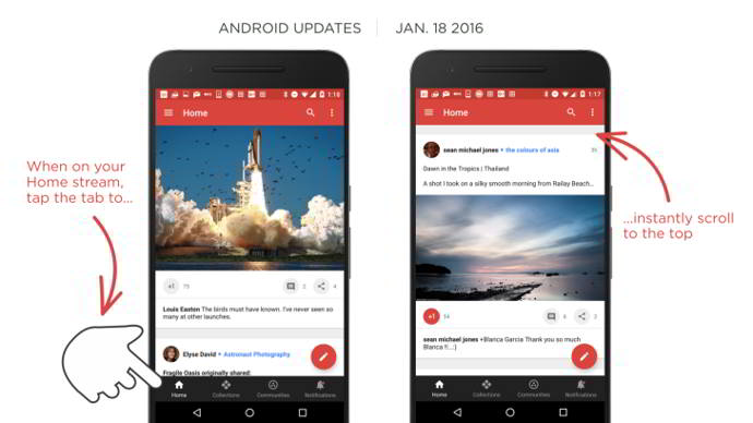 google plus v7.1 android