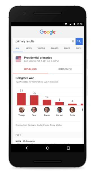 google search elecciones android