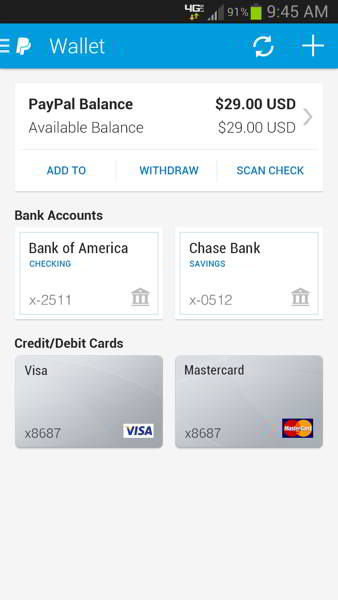 paypal v6.0 android