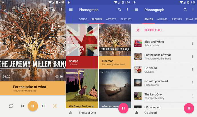 phonograph music player android
