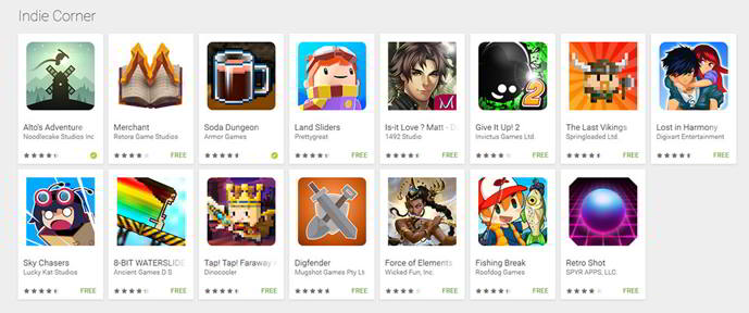 play store indies android