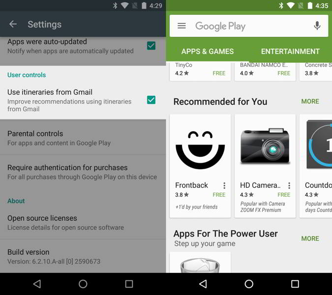 play store v6.2 android